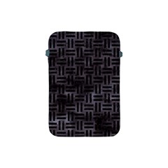 Woven1 Black Marble & Black Watercolor (r) Apple Ipad Mini Protective Soft Case by trendistuff
