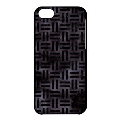 Woven1 Black Marble & Black Watercolor (r) Apple Iphone 5c Hardshell Case by trendistuff