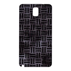 Woven1 Black Marble & Black Watercolor (r) Samsung Galaxy Note 3 N9005 Hardshell Back Case by trendistuff
