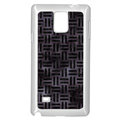 Woven1 Black Marble & Black Watercolor (r) Samsung Galaxy Note 4 Case (white)