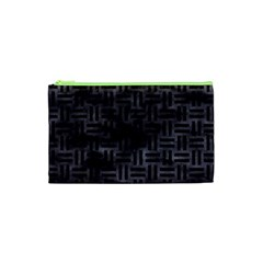 Woven1 Black Marble & Black Watercolor (r) Cosmetic Bag (xs) by trendistuff