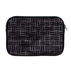 Woven1 Black Marble & Black Watercolor (r) Apple Macbook Pro 17  Zipper Case by trendistuff