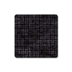 Woven1 Black Marble & Black Watercolor Magnet (square) by trendistuff
