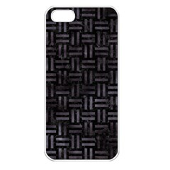 Woven1 Black Marble & Black Watercolor Apple Iphone 5 Seamless Case (white) by trendistuff