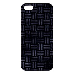 Woven1 Black Marble & Black Watercolor Iphone 5s/ Se Premium Hardshell Case by trendistuff