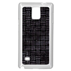 Woven1 Black Marble & Black Watercolor Samsung Galaxy Note 4 Case (white) by trendistuff