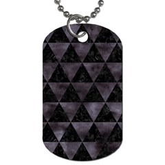 Triangle3 Black Marble & Black Watercolor Dog Tag (two Sides) by trendistuff