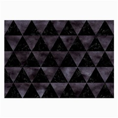 Triangle3 Black Marble & Black Watercolor Large Glasses Cloth by trendistuff