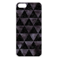 Triangle3 Black Marble & Black Watercolor Apple Iphone 5 Seamless Case (white) by trendistuff