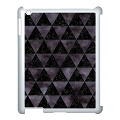 Triangle3 Black Marble & Black Watercolor Apple Ipad 3/4 Case (white) by trendistuff