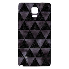 Triangle3 Black Marble & Black Watercolor Samsung Note 4 Hardshell Back Case by trendistuff