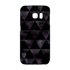 Triangle3 Black Marble & Black Watercolor Samsung Galaxy S6 Edge Hardshell Case by trendistuff