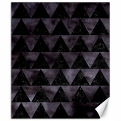 Triangle2 Black Marble & Black Watercolor Canvas 20  X 24  by trendistuff