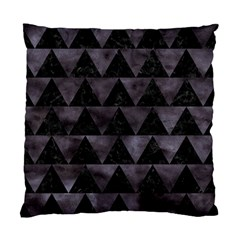 Triangle2 Black Marble & Black Watercolor Standard Cushion Case (two Sides) by trendistuff