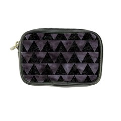 Triangle2 Black Marble & Black Watercolor Coin Purse by trendistuff