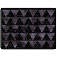 Triangle2 Black Marble & Black Watercolor Fleece Blanket (large) by trendistuff