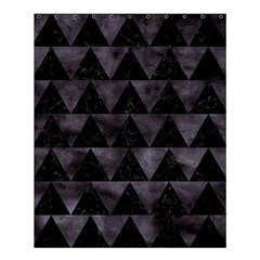 Triangle2 Black Marble & Black Watercolor Shower Curtain 60  X 72  (medium) by trendistuff