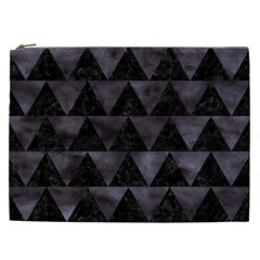 Triangle2 Black Marble & Black Watercolor Cosmetic Bag (xxl) by trendistuff