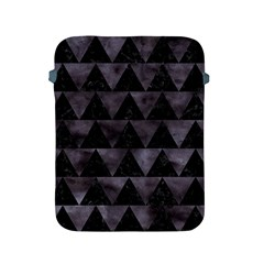 Triangle2 Black Marble & Black Watercolor Apple Ipad 2/3/4 Protective Soft Case by trendistuff