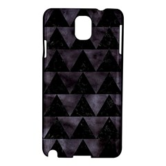 Triangle2 Black Marble & Black Watercolor Samsung Galaxy Note 3 N9005 Hardshell Case by trendistuff