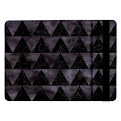 Triangle2 Black Marble & Black Watercolor Samsung Galaxy Tab Pro 12 2  Flip Case by trendistuff
