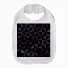 Triangle1 Black Marble & Black Watercolor Bib by trendistuff