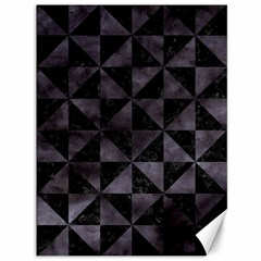 Triangle1 Black Marble & Black Watercolor Canvas 36  X 48  by trendistuff