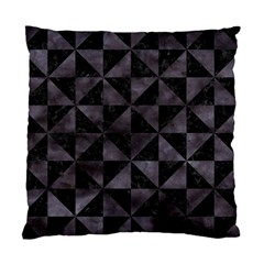 Triangle1 Black Marble & Black Watercolor Standard Cushion Case (one Side) by trendistuff
