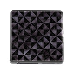 Triangle1 Black Marble & Black Watercolor Memory Card Reader (square) by trendistuff