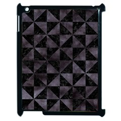 Triangle1 Black Marble & Black Watercolor Apple Ipad 2 Case (black) by trendistuff
