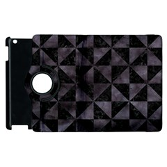 Triangle1 Black Marble & Black Watercolor Apple Ipad 3/4 Flip 360 Case by trendistuff