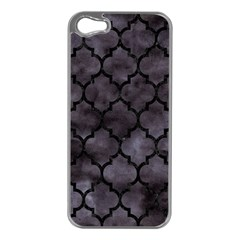 Tile1 Black Marble & Black Watercolor (r) Apple Iphone 5 Case (silver) by trendistuff
