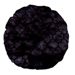 Tile1 Black Marble & Black Watercolor (r) Large 18  Premium Flano Round Cushion  by trendistuff