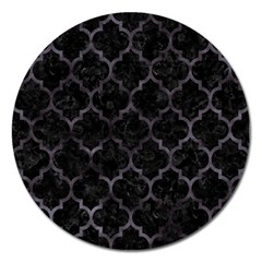 Tile1 Black Marble & Black Watercolor Magnet 5  (round) by trendistuff
