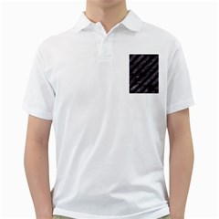 Stripes3 Black Marble & Black Watercolor Golf Shirt by trendistuff
