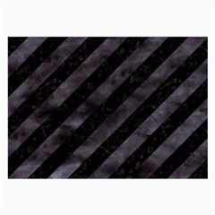 Stripes3 Black Marble & Black Watercolor Large Glasses Cloth by trendistuff