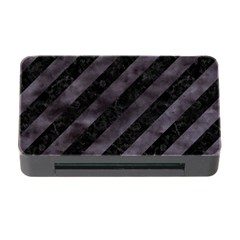 Stripes3 Black Marble & Black Watercolor Memory Card Reader With Cf by trendistuff