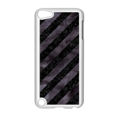 Stripes3 Black Marble & Black Watercolor Apple Ipod Touch 5 Case (white) by trendistuff