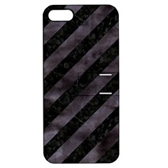 Stripes3 Black Marble & Black Watercolor Apple Iphone 5 Hardshell Case With Stand by trendistuff