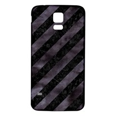 Stripes3 Black Marble & Black Watercolor Samsung Galaxy S5 Back Case (white) by trendistuff