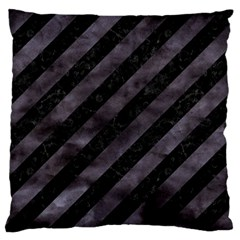 Stripes3 Black Marble & Black Watercolor Standard Flano Cushion Case (two Sides) by trendistuff