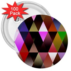 Triangles Abstract Triangle Background Pattern 3  Buttons (100 Pack)  by Simbadda