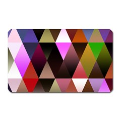 Triangles Abstract Triangle Background Pattern Magnet (rectangular) by Simbadda