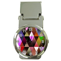 Triangles Abstract Triangle Background Pattern Money Clip Watches by Simbadda