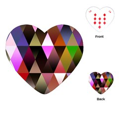 Triangles Abstract Triangle Background Pattern Playing Cards (heart)  by Simbadda
