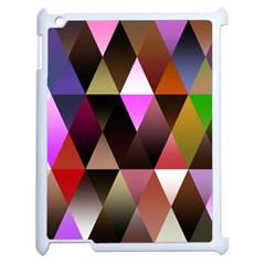 Triangles Abstract Triangle Background Pattern Apple Ipad 2 Case (white) by Simbadda