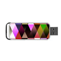 Triangles Abstract Triangle Background Pattern Portable Usb Flash (two Sides) by Simbadda
