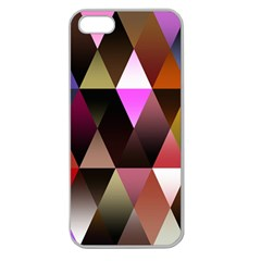 Triangles Abstract Triangle Background Pattern Apple Seamless Iphone 5 Case (clear)