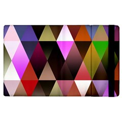 Triangles Abstract Triangle Background Pattern Apple Ipad 2 Flip Case by Simbadda