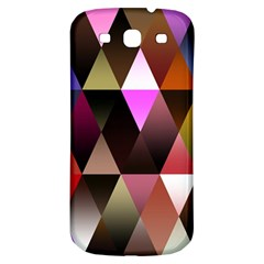 Triangles Abstract Triangle Background Pattern Samsung Galaxy S3 S Iii Classic Hardshell Back Case by Simbadda